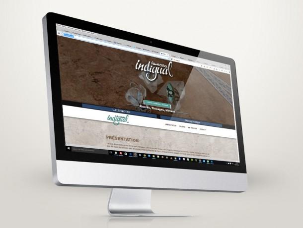 Site vitrine responsive indigual.fr